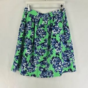 J Crew  Patio Skirt In Photo Floral A-Line A4637